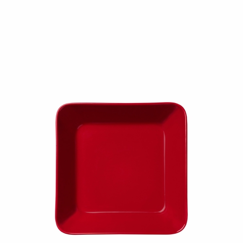 "Teema Square Plate 6.25"", Red"