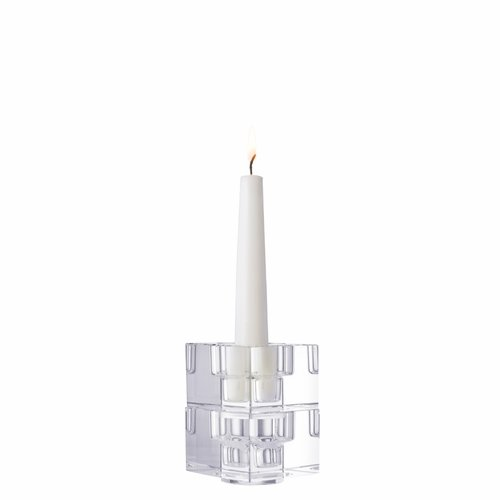 Totem Balance Clear Candlestick, Set of 2