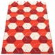 Pappelina Trip Plastic Rug - Berry/Coral Red/Vanilla, 2 1/4' x 5'