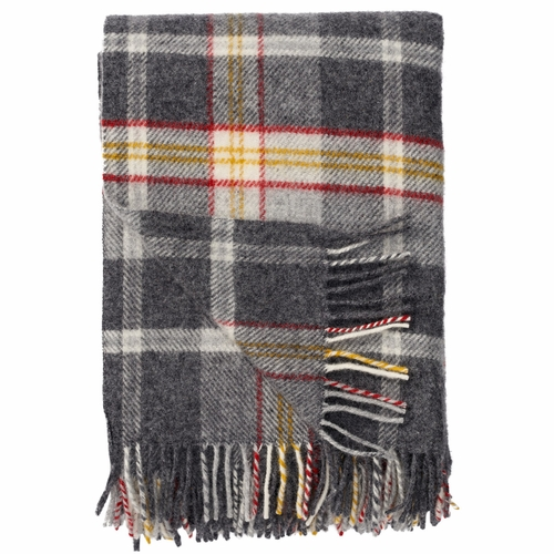 Tweed Brushed ECO Lambs Wool Throw, Red