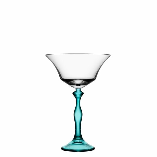 Kosta Boda Two Of Us Coupe, Woman - Turquoise