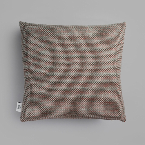 "Roros Tweed Una Wool Cushion, Green/Red - 20"" x 20"""