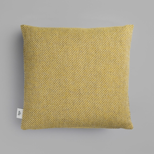 "Roros Tweed Una Wool Cushion, Ochre - 20"" x 20"""