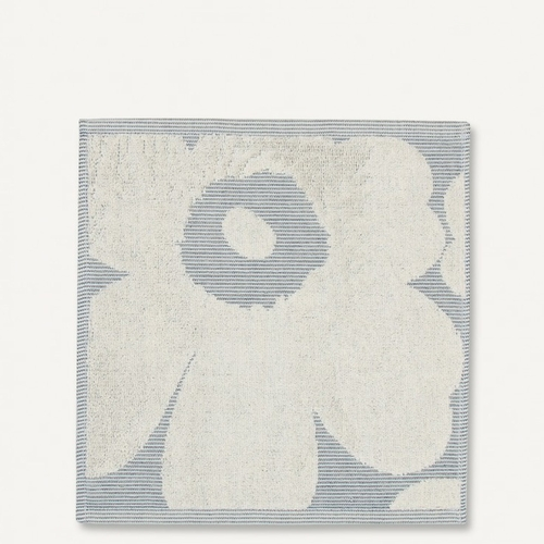 Marimekko Unikko Jacquard Mini Towel, Off-White/Blue - Set of 2