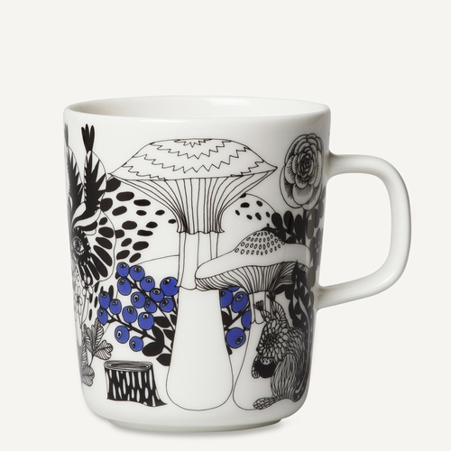 Veljekset Mug, White/Black/Blue, 8.8 oz oz