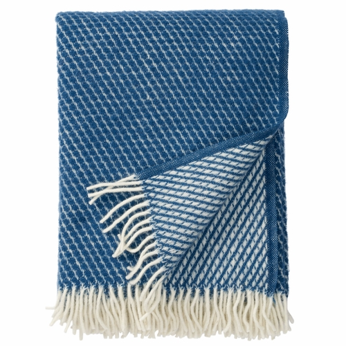 Klippan Velvet Brushed Lambs Wool Throw, Petrol