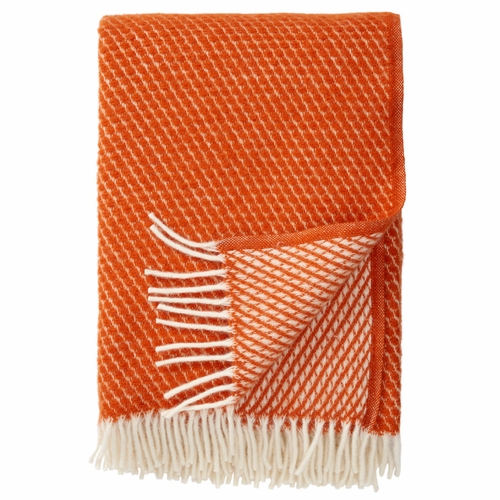 Velvet Brushed Lambs Wool Throw, Rust