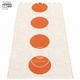 Vera Small One Plastic Rug - Orange/Vanilla, 2 1/4' x 3'