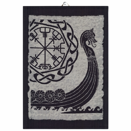 Ekelund Weavers Viking Ship Tea Towel, 14 x 20 inches