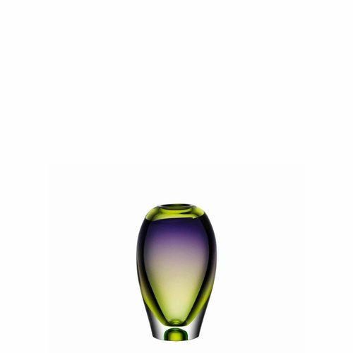 Kosta Boda Vision Vase - Green/Purple
