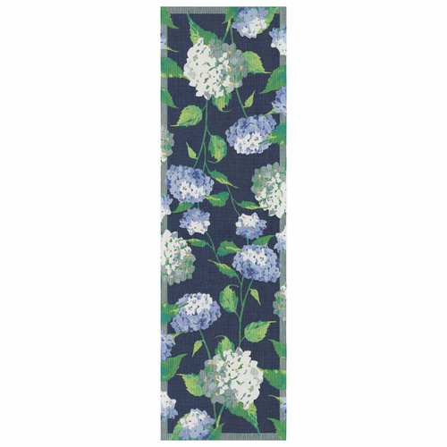 Vit Hortensia Table Runner, 14 x 47 inches