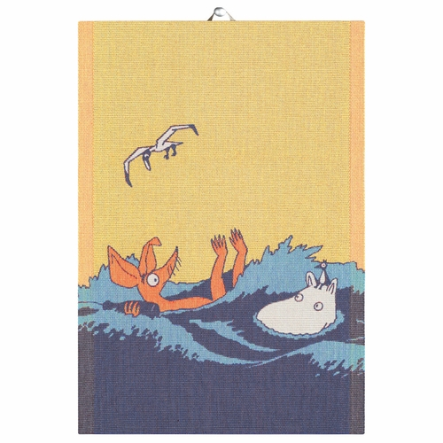 Ekelund Weavers Waves Tea Towel, 14 x 20 inches