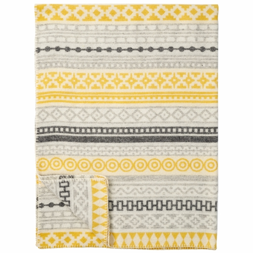 Wera Merino & Lambs Wool Blanket, Yellow