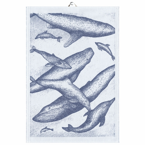 Whales Tea Towel, 14 x 20 inches