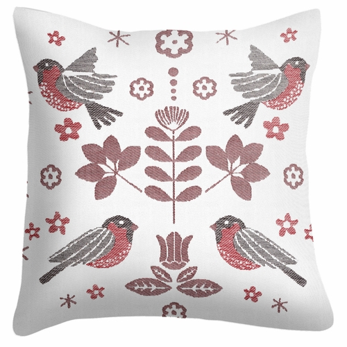 Winter Birds Cushion Cover