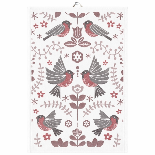 Winter Birds Tea Towel, 14 x 20 inches