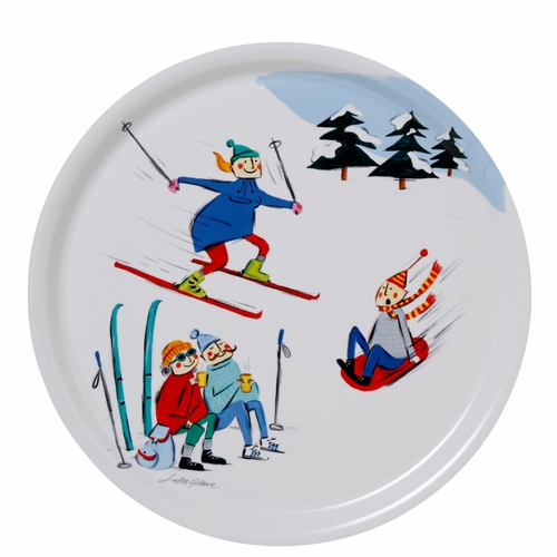 Bengt & Lotta Winter Life Round Tray - 12.2""