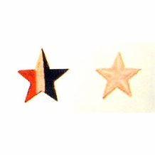 1.5 INCH STAR RED / WHITE / BLUE PATCH