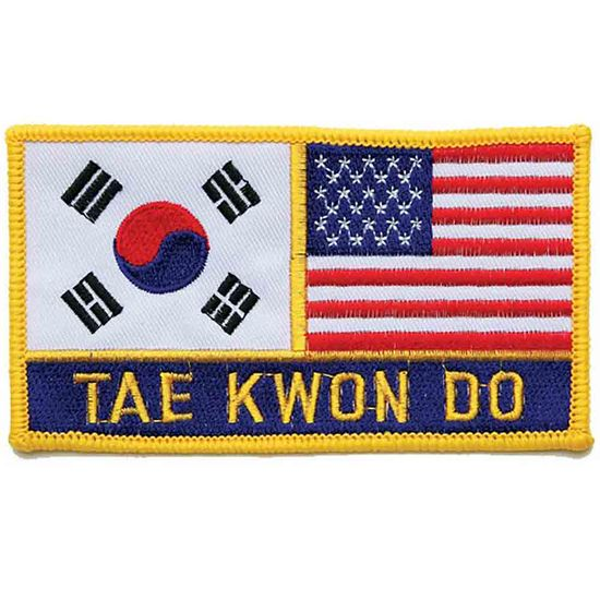 """2 FLAG TAE KWON DO PATCH 3"""" x 5"""""""