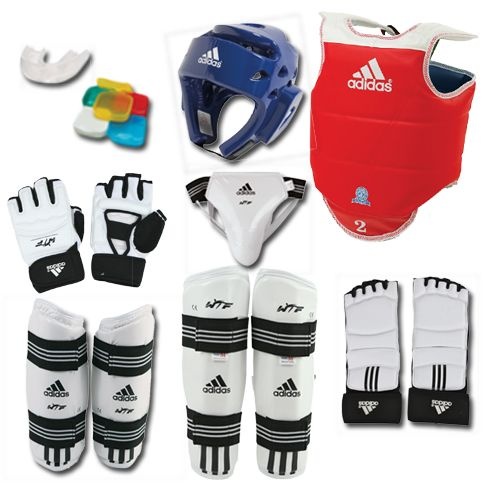 ADIDAS SUPREME TKD SPARRING GEAR SET W SHIN AND GROIN