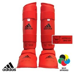 ADIDAS WKF RED SHIN & INSTEP PROTECTOR