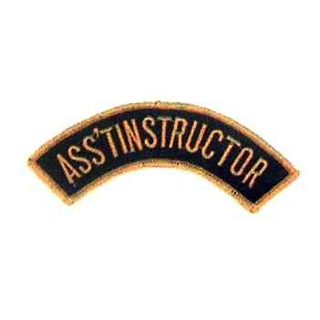 ASST. INSTRUCTOR PATCH ARCHED