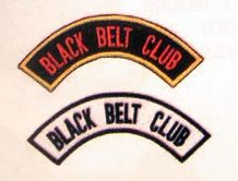 "BLACK BELT CLUB; ARCH GOLD / ""BLACK"" PATCH"