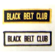 "BLACK BELT CLUB GOLD / ""BLACK"" PATCH"