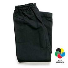 BLACK KARATE PANTS 10oz  poly/cotton