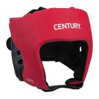 CENTURY BRAVE OPEN FACE HEADGEAR - RED/BLACK