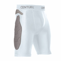 CENTURY PADDED COMPRESSION SHORTS WHITE
