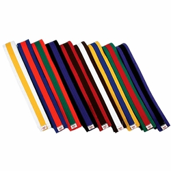 COLORED BELT WITH COLOR STRIPE