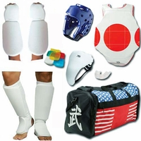 COMPLETE CLOTH SPARRING GEAR SET W/ SHIN & INSTEP, GROIN & BAG