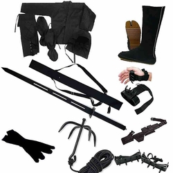 COMPLETE NINJA SET WITH STEEL SWORD