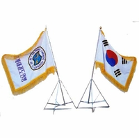 DELUXE FLAG STAND SET