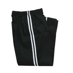 BLACK DEMO PANTS with WHITE STRIPE