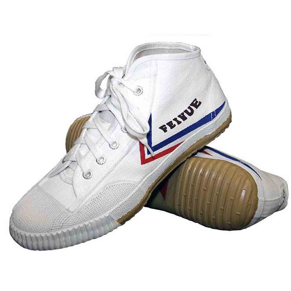 FEIYUE WHITE HIGH TOP SHOES on sale