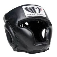 "GFY ELITE FULL FACE LEATHER ""CLOSE FIT"" HEADGEAR"