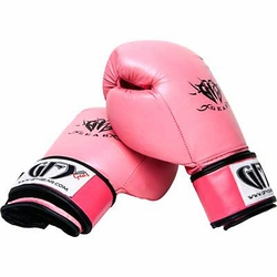 GFY GEAR PINK LEATHER BOXING/MUAY THAI GLOVE