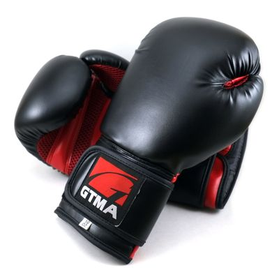 Gtma Synthetic Leather Boxing Gloves With Mesh Palm On
