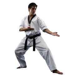 GTMA V-NECK BLACK CORDUROY TKD UNIFORM