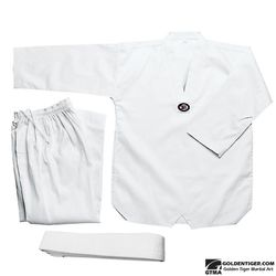 GTMA WHITE CORDUROY TKD UNIFORM