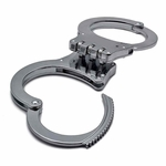 HEAVY DUTY HINGED HANDCUFFS SILVER - image 2