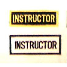 "INSTRUCTOR GOLD / ""BLACK"" PATCH"