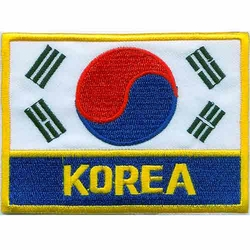 KOREA FLAG PATCH with KOREA