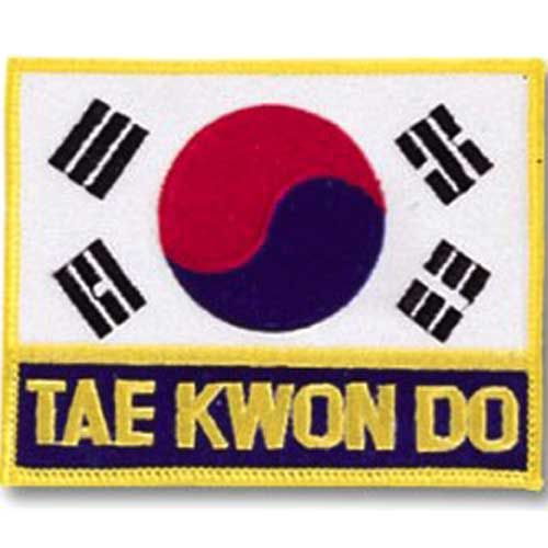 KOREA FLAG PATCH with TAE KWON DO