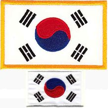 "KOREAN FLAG PATCH  2.5"" X 3.5"""
