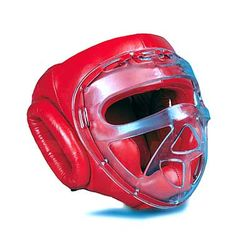 LEATHER HEADGEAR WITH CLEAR SHIELD