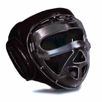 LEATHER HEADGEAR WITH CLEAR SHIELD - image 1