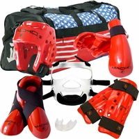 MACHO DYNA DELUXE SPARRING GEAR SET - FACE SHIELD & BAG
